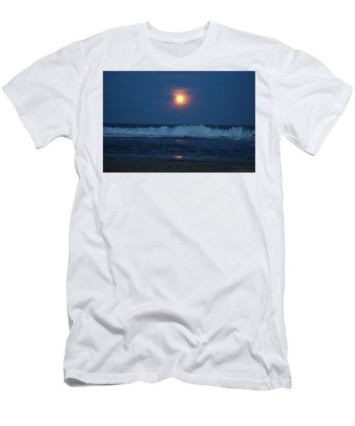 Snow Moon Ocean Waves Men's T-Shirt (Athletic Fit)