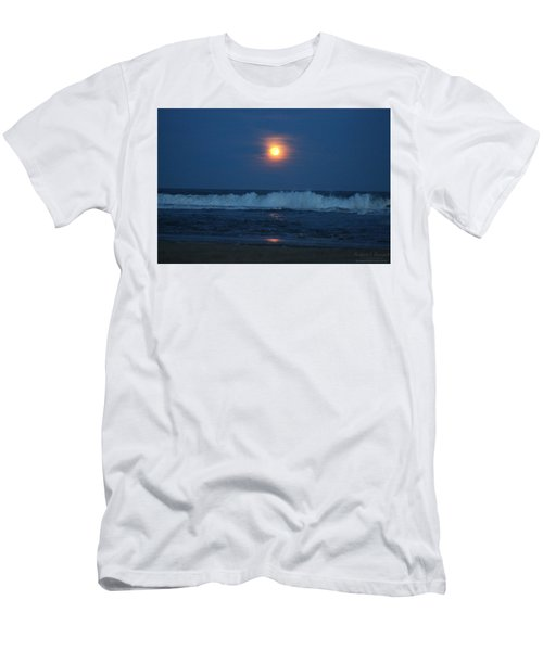 Snow Moon Ocean Waves Men's T-Shirt (Athletic Fit)
