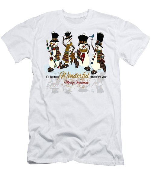 Snow Play Men's T-Shirt (Slim Fit) by Tami Dalton
