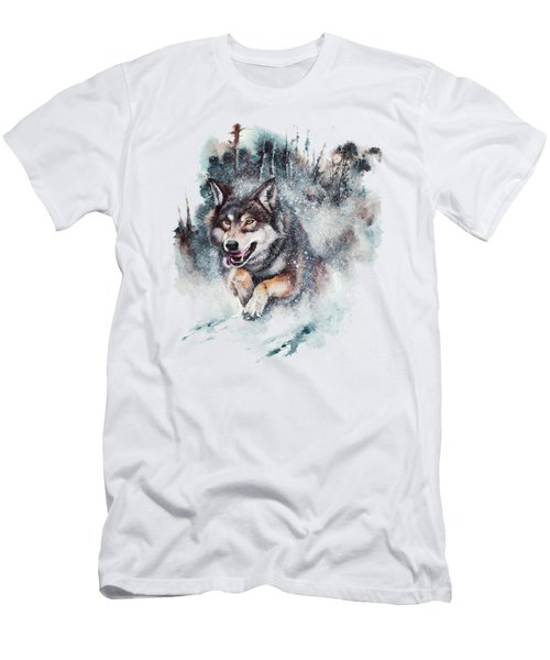 Snow Storm Men's T-Shirt (Athletic Fit)