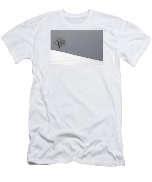 Men's T-Shirt (Athletic Fit) featuring the photograph Snow Tree by Ken Barrett
