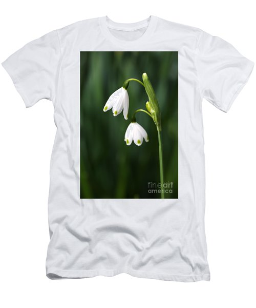 Snowdrops Painted Finger Nails Men's T-Shirt (Athletic Fit)
