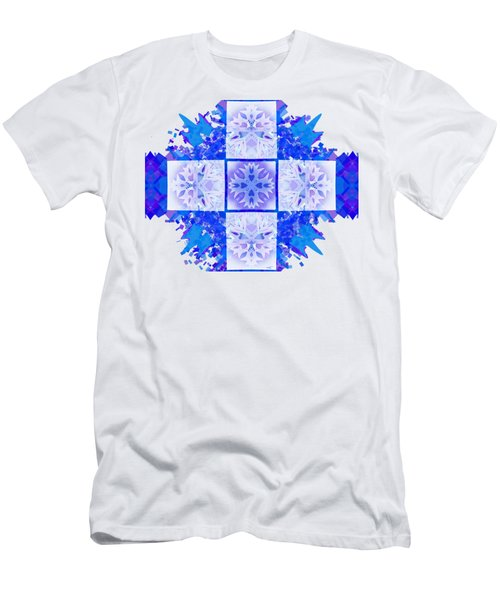 Snowflake Cross Men's T-Shirt (Slim Fit) by Adria Trail