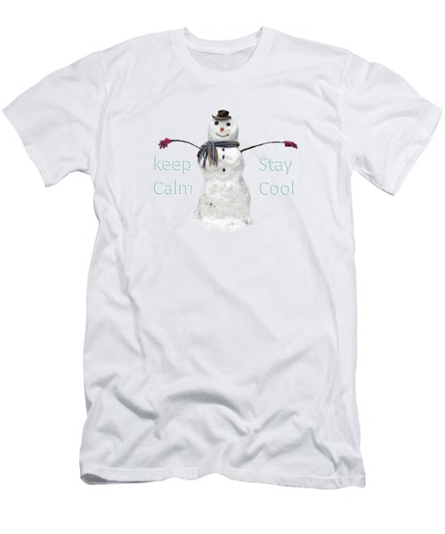 Snowman  Men's T-Shirt (Slim Fit) by Tom Conway