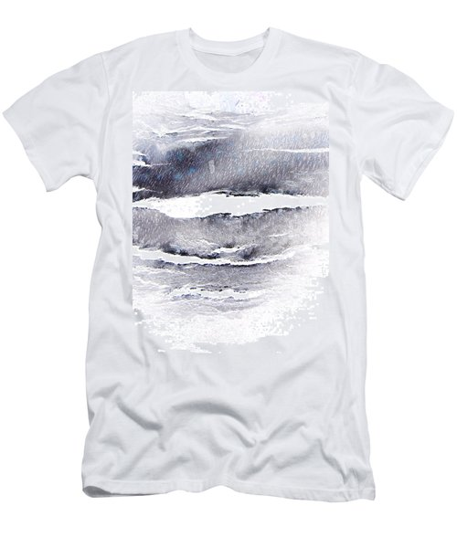 Men's T-Shirt (Slim Fit) featuring the photograph Snowstorm In The High Country by Lenore Senior