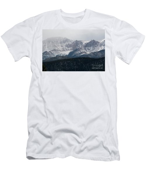 Snowstorm On Pikes Peak Men's T-Shirt (Athletic Fit)