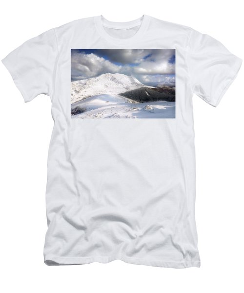 snowy Anboto from Urkiolamendi at winter Men's T-Shirt (Athletic Fit)
