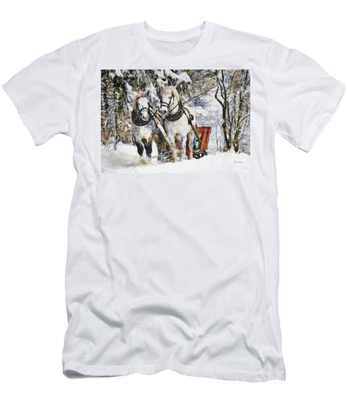Snowy Day Men's T-Shirt (Athletic Fit)