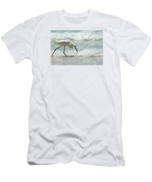 Snowy Egret 6265 Lido Beach Men's T-Shirt (Athletic Fit)