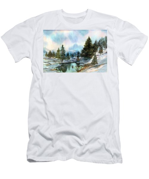 Snowy Lake Reflections Men's T-Shirt (Athletic Fit)