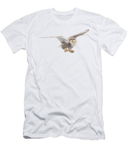 Snowy Owl T-shirt Mug Graphic Men's T-Shirt (Athletic Fit)