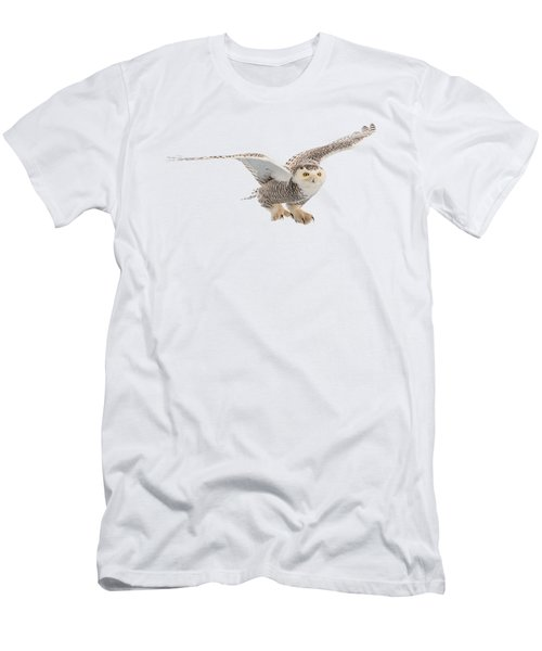 Snowy Owl T-shirt Mug Graphic Men's T-Shirt (Athletic Fit)