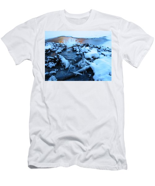 Snowy Reflections Men's T-Shirt (Slim Fit) by Angela Murray