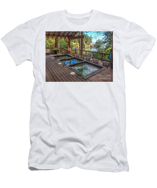 Soak In Doe Bay Men's T-Shirt (Slim Fit) by William Wyckoff