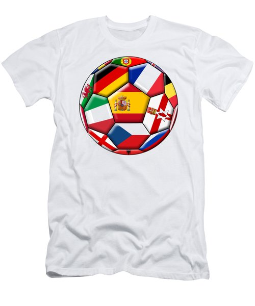 Soccer Ball With Flags - Flag Of Spain In The Center Men's T-Shirt (Athletic Fit)