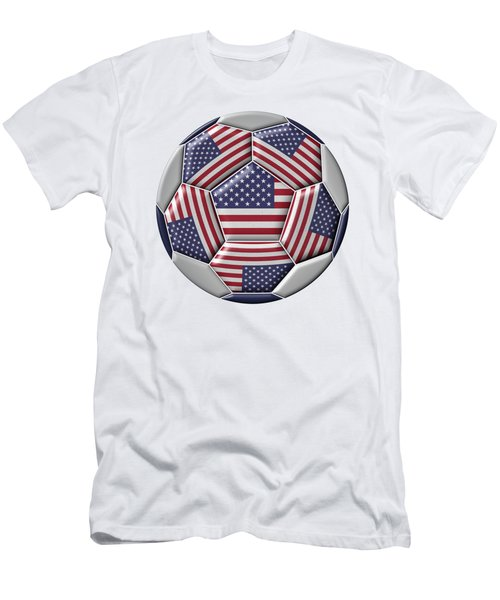 Soccer Ball With United States Flag Men's T-Shirt (Athletic Fit)