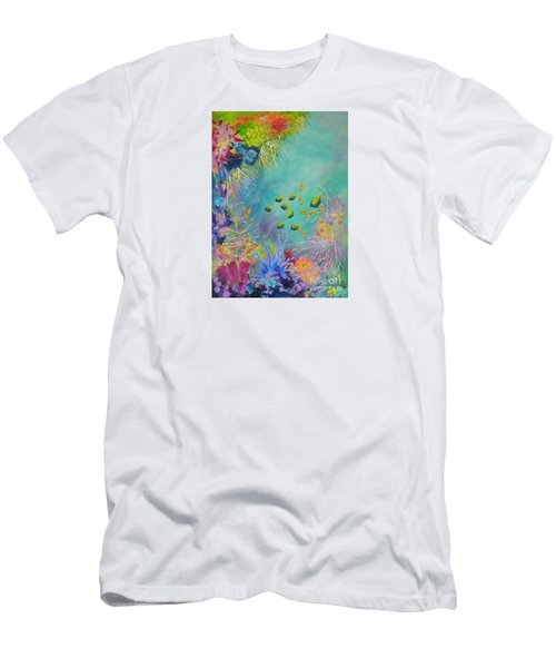 Soft And Hard Reef Corals Men's T-Shirt (Slim Fit) by Lyn Olsen