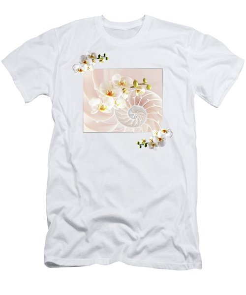 Soft Pink Fusion Men's T-Shirt (Athletic Fit)