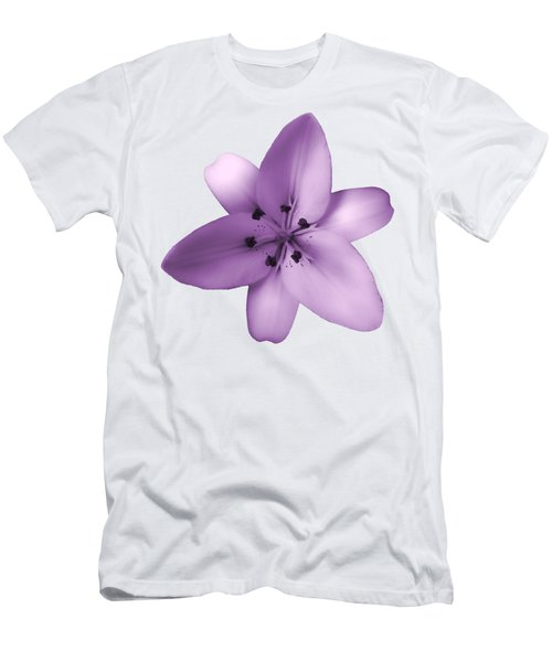 Soft Purple Creme Lily Men's T-Shirt (Athletic Fit)