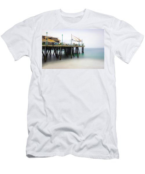Men's T-Shirt (Athletic Fit) featuring the photograph Softly On The Pier by Michael Hope