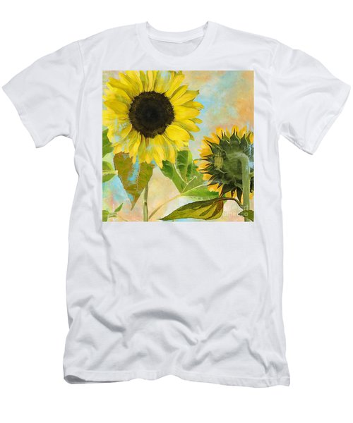 Soleil I Sunflower Men's T-Shirt (Athletic Fit)