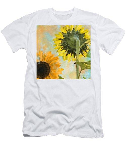 Soleil II Sunflower Men's T-Shirt (Athletic Fit)