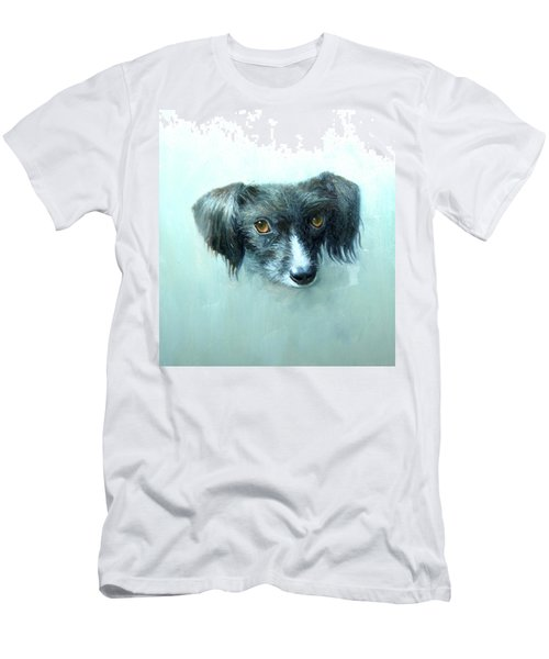 Men's T-Shirt (Athletic Fit) featuring the painting Someones Pet by Mel Greifinger