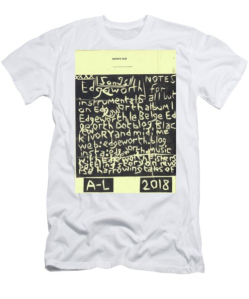 Song Notes Title Page A-l Men's T-Shirt (Athletic Fit)