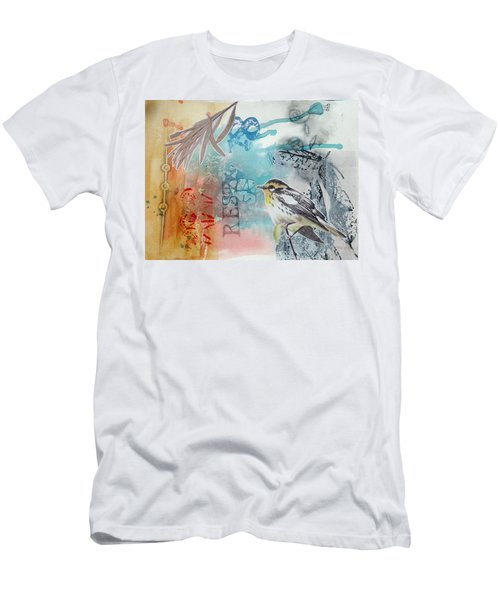 Men's T-Shirt (Athletic Fit) featuring the mixed media Song Of Life  by Rose Legge