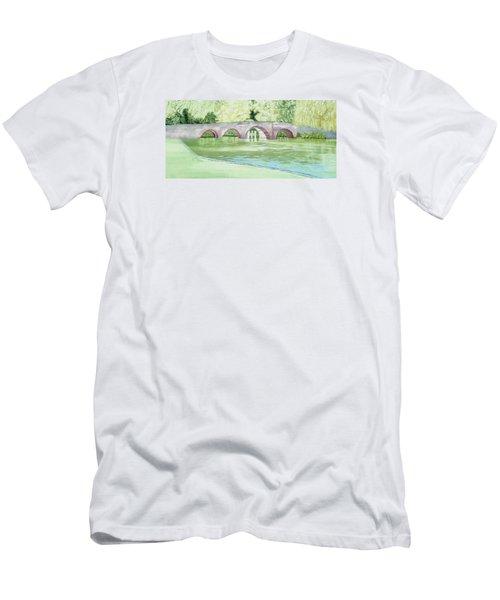 Sonning Bridge  Men's T-Shirt (Slim Fit) by Joanne Perkins