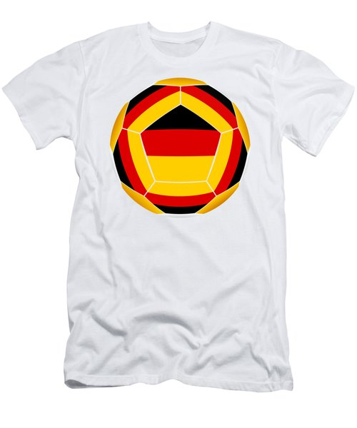 Soocer Ball With Germany Flag Men's T-Shirt (Athletic Fit)