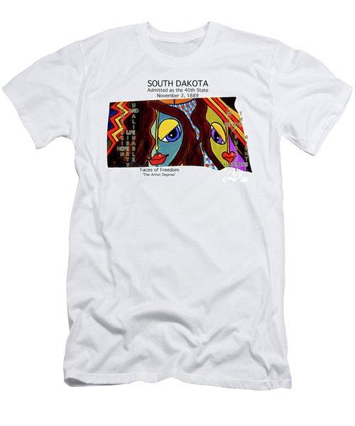 South Dakota Men's T-Shirt (Athletic Fit)