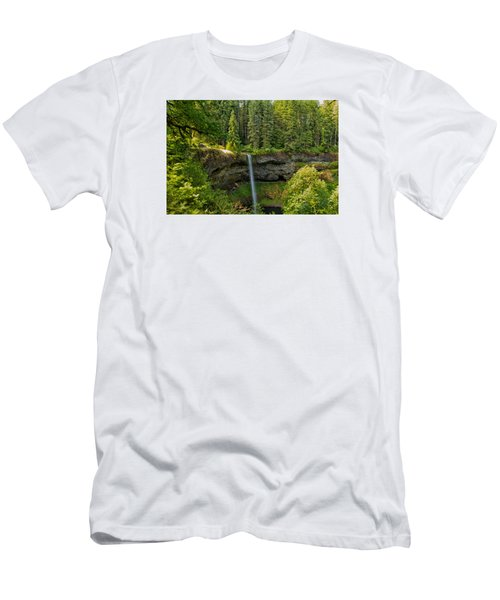 Men's T-Shirt (Slim Fit) featuring the photograph South Falls 0417 by Tom Kelly