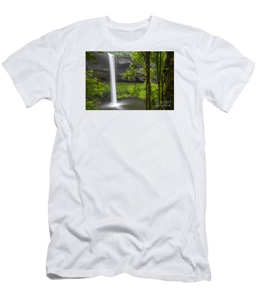 South Falls In Silver Falls State Park Men's T-Shirt (Athletic Fit)