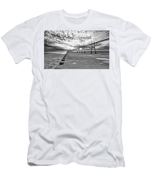 South Haven Pier Wide Angle Men's T-Shirt (Athletic Fit)