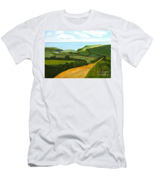 South West England Countryside Cotswold Area Men's T-Shirt (Slim Fit) by Rod Jellison