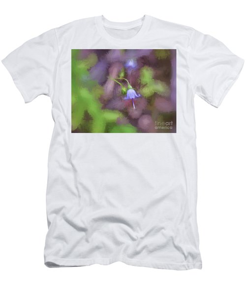 Men's T-Shirt (Athletic Fit) featuring the photograph Southern Harebell Wildflower by Kerri Farley