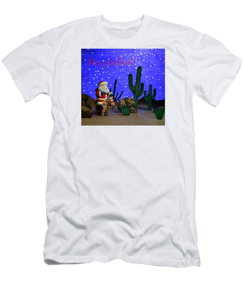 Men's T-Shirt (Slim Fit) featuring the painting Southwest Santa  by Marna Edwards Flavell