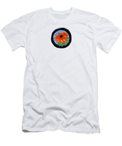 Space Zinnia Men's T-Shirt (Slim Fit) by Jean Pacheco Ravinski