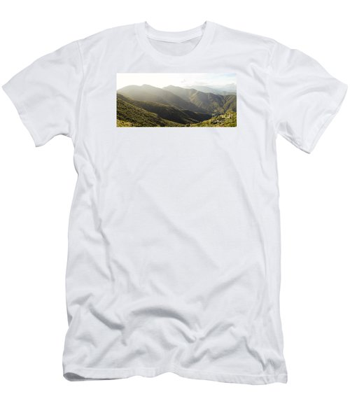 spanish mountain range, Malaga, Andalusia, Men's T-Shirt (Slim Fit) by Perry Van Munster