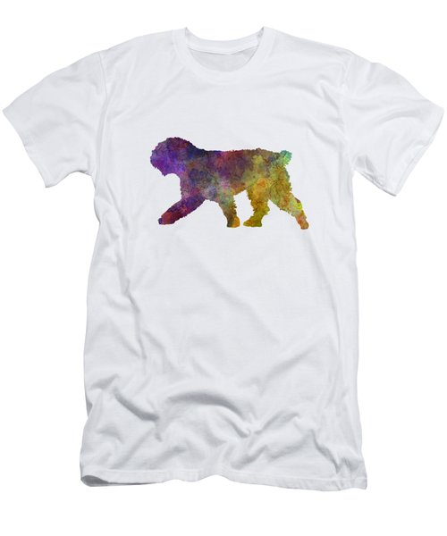 Spanish Water Dog In Watercolor Men's T-Shirt (Athletic Fit)