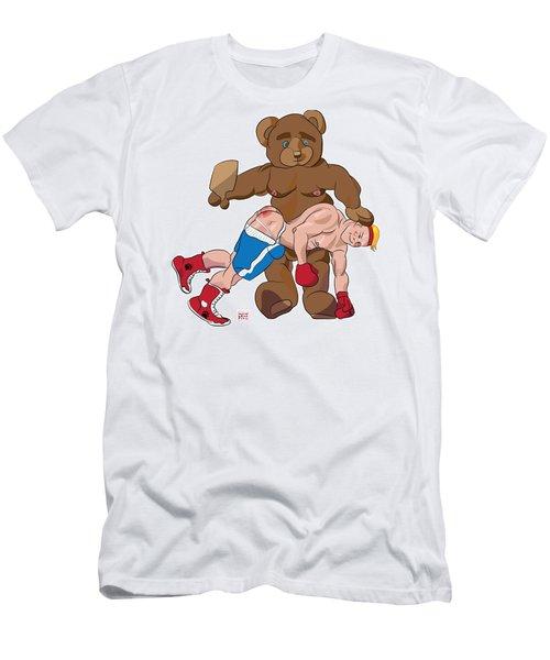 Spanking Bear Men's T-Shirt (Athletic Fit)