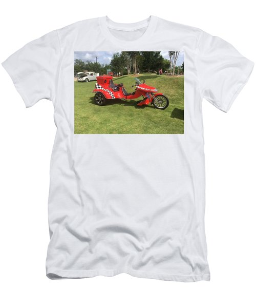 Men's T-Shirt (Athletic Fit) featuring the photograph Speed Racer Trike by Aaron Martens