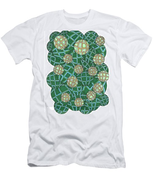 Spheres Cluster Green Men's T-Shirt (Athletic Fit)