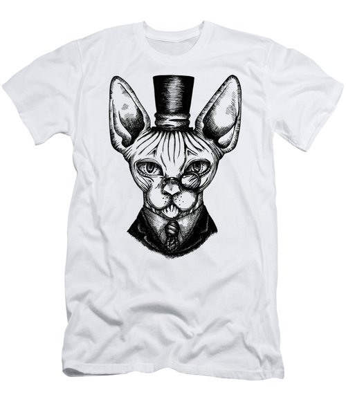 Sphynx Gentleman Men's T-Shirt (Slim Fit) by Akiko Okabe