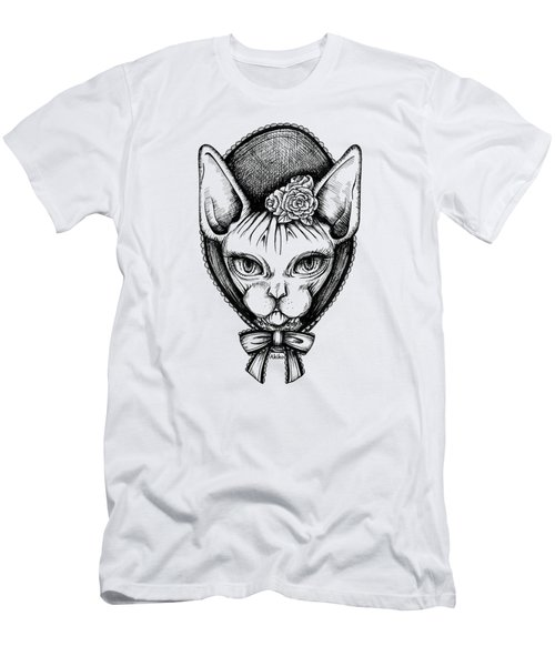 Sphynx Lady Men's T-Shirt (Slim Fit) by Akiko Okabe