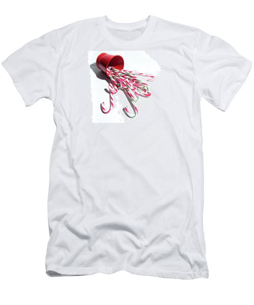 Spilled Candy Canes Men's T-Shirt (Athletic Fit)