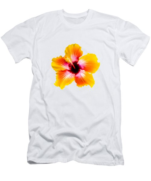 Spin The Bottle Hibiscus Men's T-Shirt (Athletic Fit)