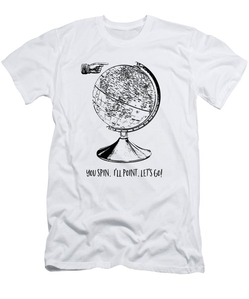 Spin The Globe Tee Men's T-Shirt (Athletic Fit)