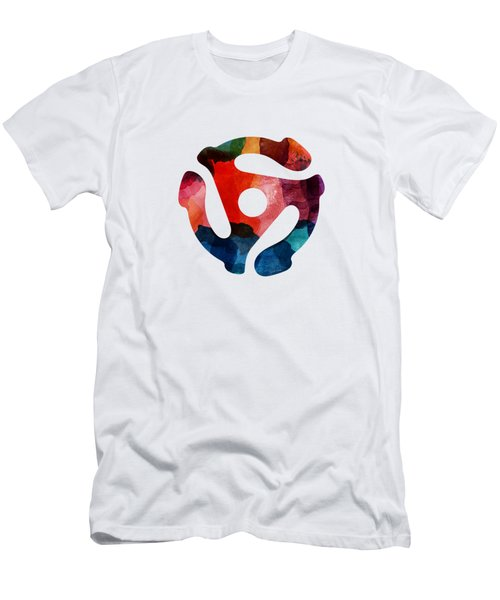 Spinning 45- Art By Linda Woods Men's T-Shirt (Athletic Fit)